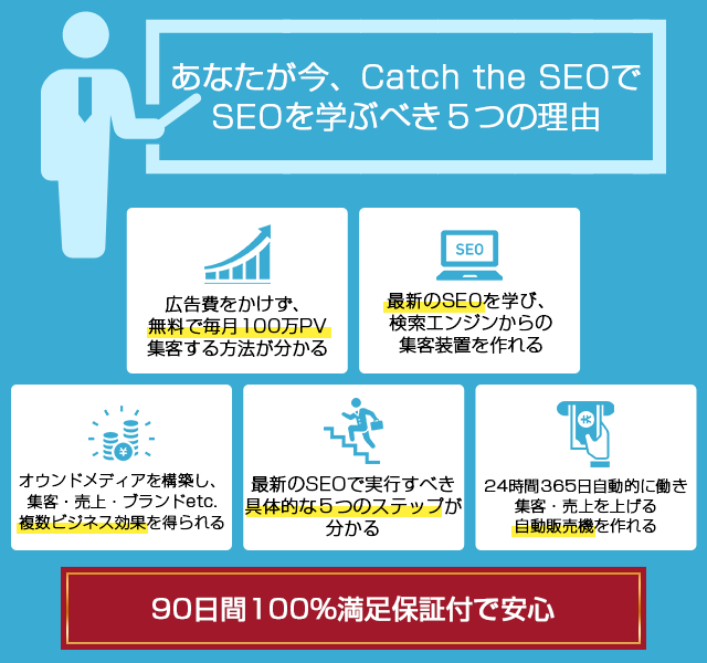 Catch the SEOで学ぶべき5つの理由